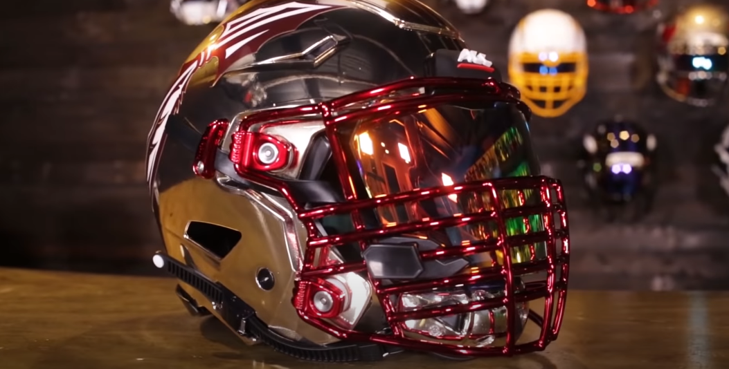 Cleaning a football helmet chin strap